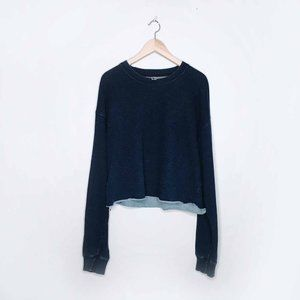 American Apparel Indigo cropped sweatshirt